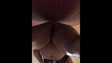 BBW bent over and fucking dildo
