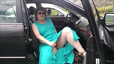 Mrs hg goes commando with a guy in next car