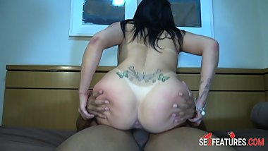 Nasty Girl Rimming and Creampie by Tourist