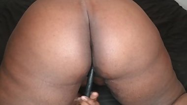 Toying my black wet pussy