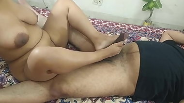 Indian girlfriend taking big black dick in her pussy
