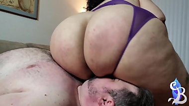 Goddess SSBBW Ass Worship and Blow Job