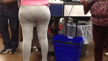 Nice ass in white leggins