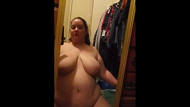 Riding my new dildo in front of a mirror