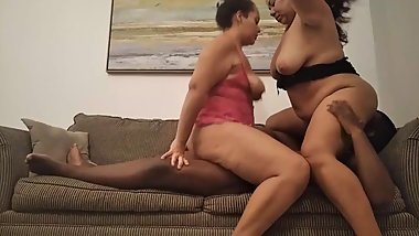Interracial Threesome BBW: Fucking with my Milf girlfriend and my husband