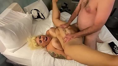 Bbw milf gets fucked while husband films