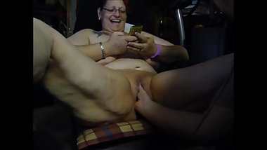 horny fisting on the cam in front of a friend