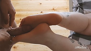 Foot Kink - Teen Gets Her Feet Fucked