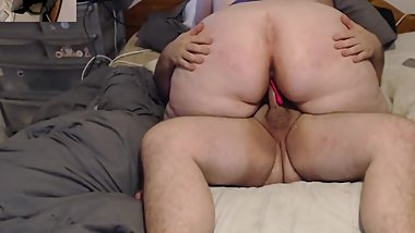 Bbw milf riding cock big ass