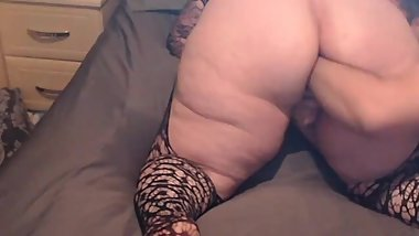 Mature milf Bbw fisted from behind