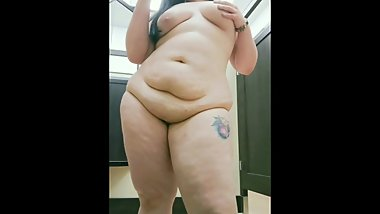 First time chubby babe squirts in public dressing room