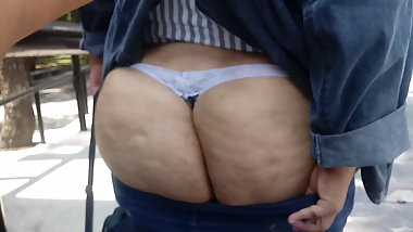 BBW ASS in thonge (gorda culona en tanga)