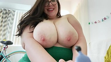 BBW Giantess Takes Tiny Friend's Virginity