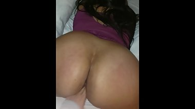 huge ass latina BBW MILF has her pussy played with from the back
