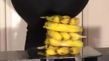 Bananas squashed under butt