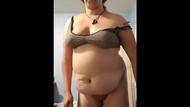 Trans BBW Shaking Her Big Belly