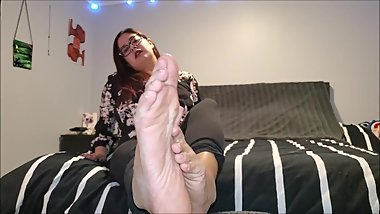 Ava's Big Feet In Your Face