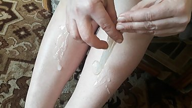 Mom found used son condoms with sperm. Milf cum footfetish