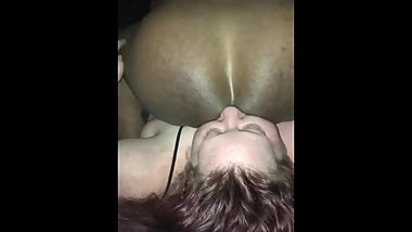 BBW giving a Deep Rimjob licking guys prostate.