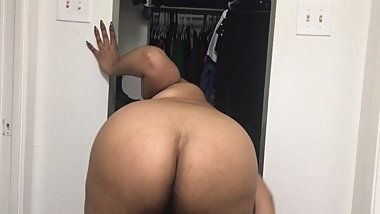 Tattooed BBW Latina smoking striptease