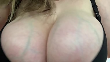 Round J Cup Tits Busting Out of Sexy Nursing Bra