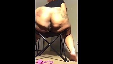 Huge Ass Hanging Off The Chair