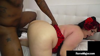 Tight White BBW Julia Rocket Gets Pounded By BBC Rome Major!
