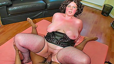 Big assed busty British black cock lover Clair
